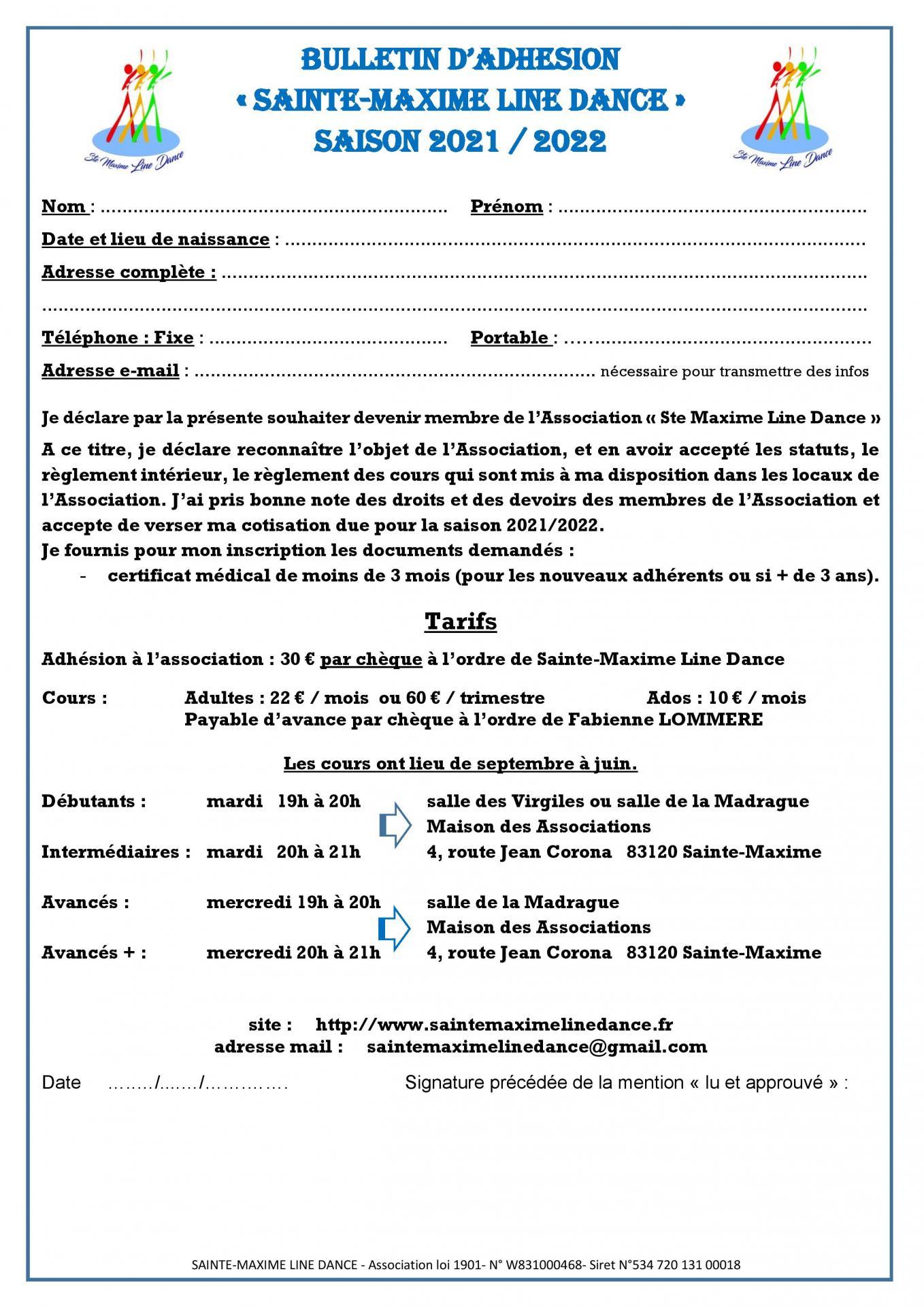 Bulletin d adhesion 2021 2022 page 001